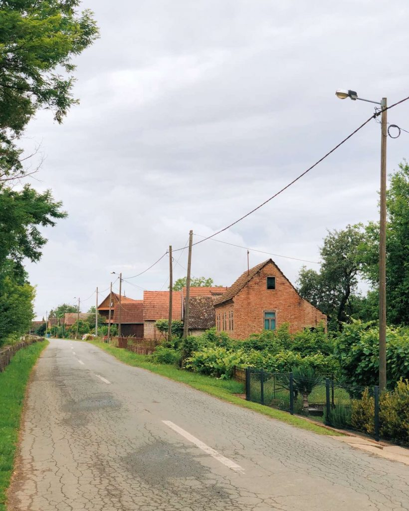 A road around Lonja field