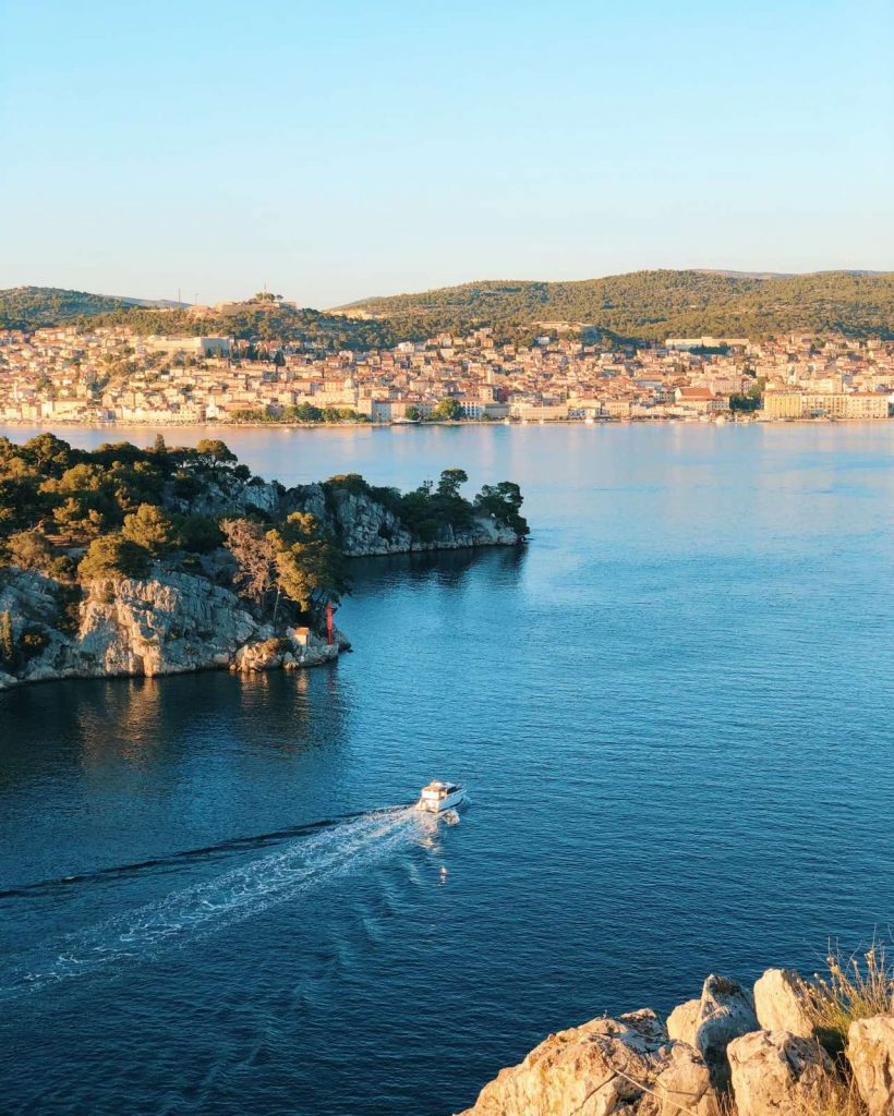 St. Anthony's Channel view over Sibenik